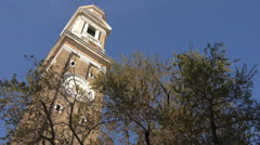 The clocktower of Chiesa di Santi Apostoli in Venice Stock Footage