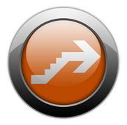 Icon, Button, Pictogram Upstairs - stock illustration