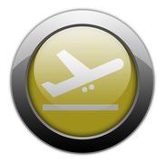 Icon, Button, Pictogram Airport Departures Stock Illustration