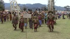 Goroka Festival Papua New Guinea. - stock footage