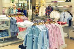 Fashion clothing store - stock photo