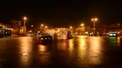 Nizhny Novgorod, Russia, The movement of cars square of Minin and Stock Footage