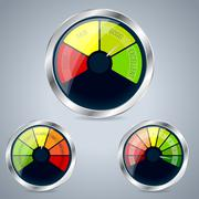 Rating meter design set of three Stock Illustration