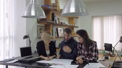 Two promising young girls undergo the practice of the financial affairs of the - stock footage