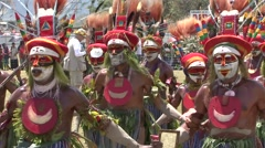 Goroka Festival Papua New Guinea - stock footage