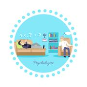 Psychologist Concept Icon Flat Isolated Stock Illustration