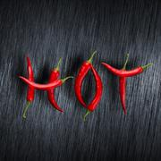 Hot message made of chili peppers Stock Illustration