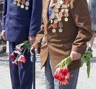 World War II veterans - stock photo
