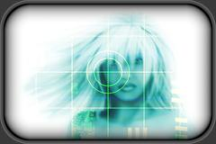 High-tech face technology background Stock Illustration