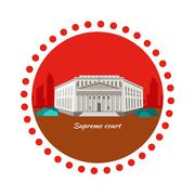 Supreme Court Concept Icon Flat Design Stock Illustration