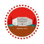 Stock Illustration of Supreme Court Concept Icon Flat Design