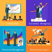 Stock Illustration of Business Training. Success Motivational Managment