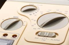 Control panel of radio, closeup picture Stock Photos