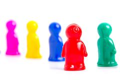 group of toy people - stock photo