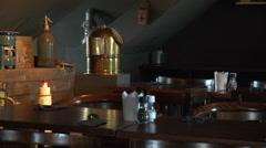 old Dutch fishing restaurant interior - stock footage