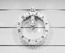 CCassic clock with moving pointer Stock Photos