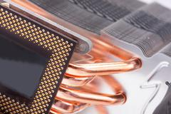 Computer processor cooler or radiator - stock photo