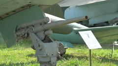 Fire gun at Polish Army Museum, Warsaw Stock Footage