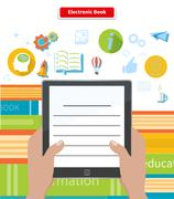 Electronic Book. Concept Reading Ebook Stock Illustration