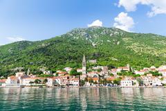 Perast town, Montenegro - stock photo