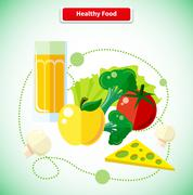 Organic Health Food Stock Illustration