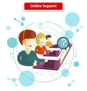 Online Support Concept Stock Illustration