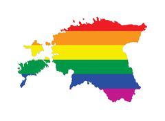 estonia gay map - stock illustration