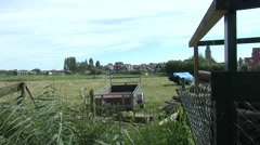 skyline Marken Netherlands Dutch traditional old fishing village - stock footage