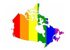 canada gay map - stock illustration