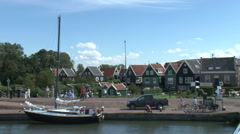 Marken Netherlands Dutch traditional old fishing village - stock footage