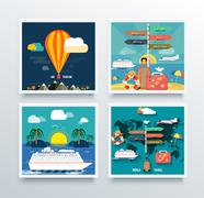 Air Tourism and World Travel Concept Stock Illustration