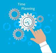 Time Planning Concept Flat Design - stock illustration