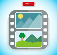 Stock Illustration of Video App Icon Flat Style Design