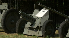 Military exhibits at Polish Army Museum, Warsaw Stock Footage