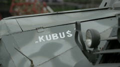 Kubus military exhibit at Polish Army Museum, Warsaw Stock Footage