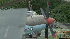 Aircraft propeller at Polish Army Museum, Warsaw Stock Footage