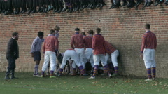 Eton Wall Game St Andrews Day 2015. Game play mid shot Stock Footage