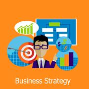 Business Strategy Concept Design Style - stock illustration