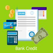 Bank Credit Concept Design Style - stock illustration