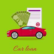 Stock Illustration of Car Loan Approved Concept