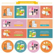 Household and Beverages Food Cosmetic Stock Illustration