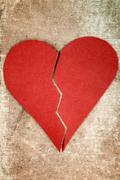 Stock Photo of Close up of paper broken heart