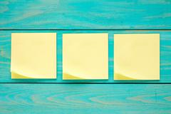Stock Photo of Three blank  sticky notes