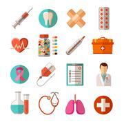 Medical Icons Set - stock illustration