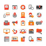 Support Center Icons Set Stock Illustration