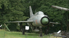 Fighting plane at Polish Army Museum, Warsaw Stock Footage