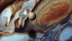 jupiter and moon europa - stock footage