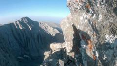 Rope Mountainering, Climbing expedition at Olymp mountain in Greece Stock Footage
