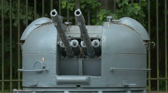 Military armoured weapon at Polish Army Museum, Warsaw Stock Footage