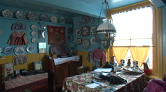 Traditional old Dutch interior props Stock Footage
